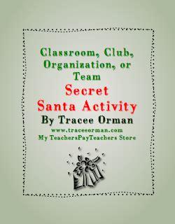 secret activity classroom freebies classroom secret santa activity