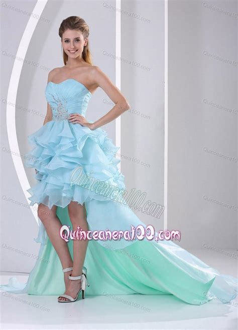 light blue ruffle dress light blue ruffled short sweetheart 16 birthday party