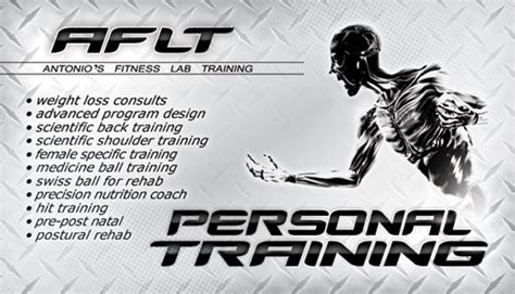 Best Resume Names by Aflt Personal Training Business Card Design Tight