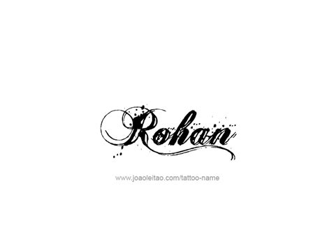 tattoo fonts rahul rohan name designs