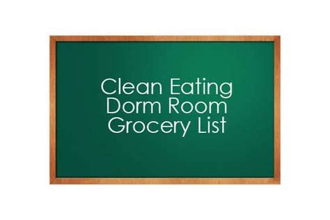 room shopping list clean room grocery list