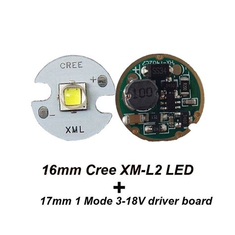 Driver Led Cree 1 pc 16mm cree xml l2 led 1 pc flashlight driver 17mm 1
