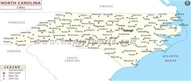 carolina state map with cities map of carolina state map of usa