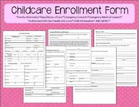 Child Care Enrollment Form Template by Childcare Enrollment Form Washington Home And Parent