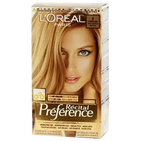 coloring l oreal hair color unique l oreal garnier color sensation 30 2014 24 best of l l oreal recital preference 8 california bright blond http www transfashions en