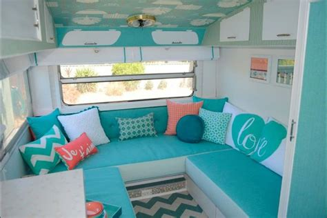 Vintage Camper Decorating Ideas Retro Vintage Caravan Camper Trailer Aqua Mint Sea Foam