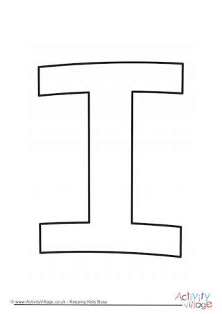 letter i template letter template lower i