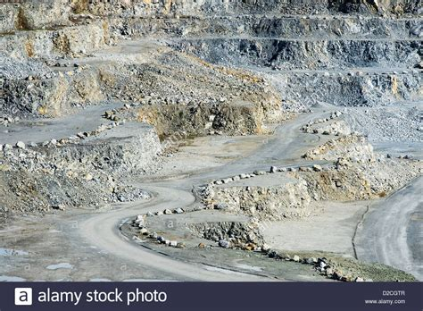 open pit granite quarry maine usa stock photo royalty