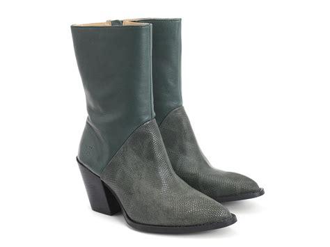 fluevog boots fluevog shoes shop room 203 green embossed mid