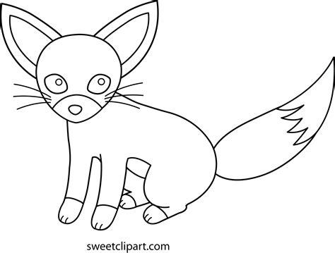 fennec fox coloring page free clip art