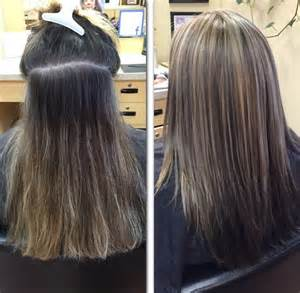 color highlights to blend gray into brown hair 13 best images about grey blending on pinterest silver