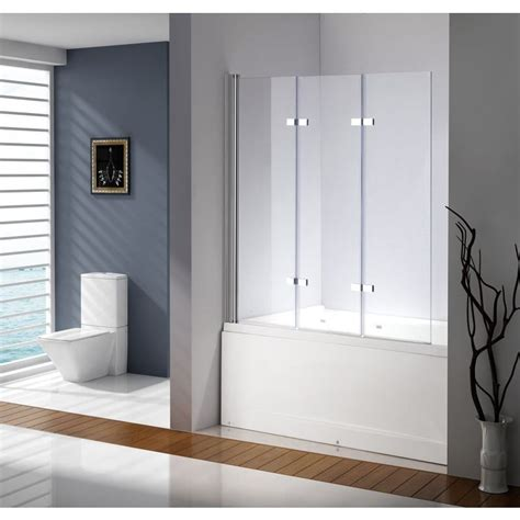 frameless bath shower screen 3 fold glass frameless bath shower screen 130x140cm buy