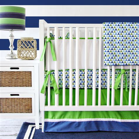 Navy Boy Crib Bedding Preppy Navy Boy Crib Bedding Set By Caden Rosenberryrooms
