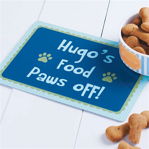 food mat personalised pet food mat by sparks living notonthehighstreet