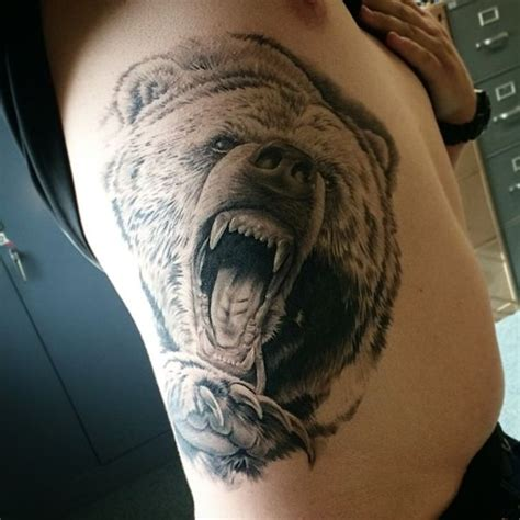 bear head tattoo 36 grizzly designs with meaning