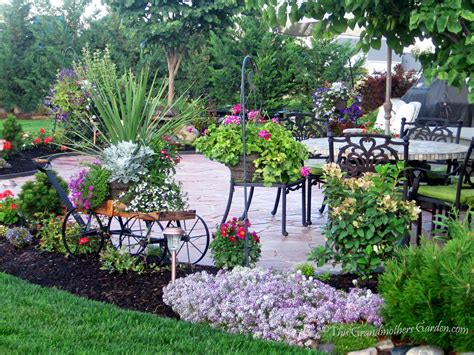 backyard florist this grandmother s garden diy flagstone patio