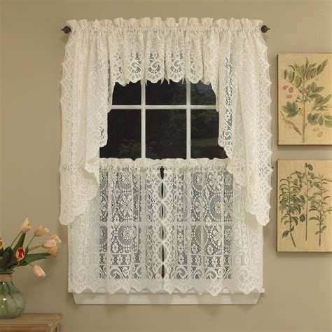 lace swag valance curtains lace swag valance curtains window treatments design ideas