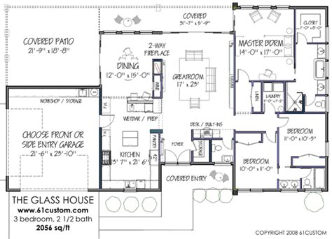 modern floor plan modernist 3br 2056 sq ft http www 61custom images