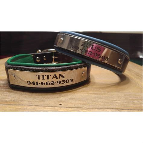 personalized harness leather padded custom collar