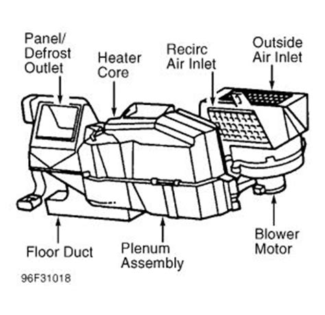 1998 ford f150 heater core diagram 1997 ford f150 replacing heater core what is involved in
