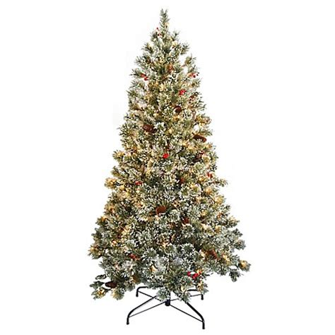 national tree company 6 foot pre lit crystal cashmere