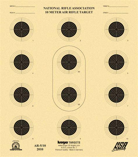 printable competition targets 10 meter air rifle target nra ar 5 10 usa shooting