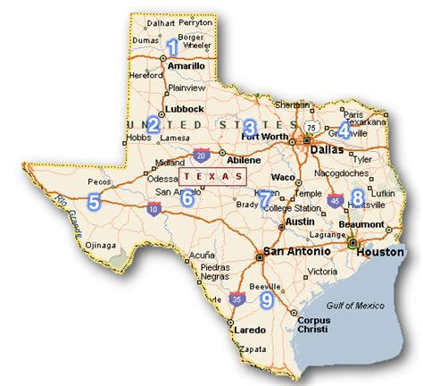 texas map city september 2011 county map regional city