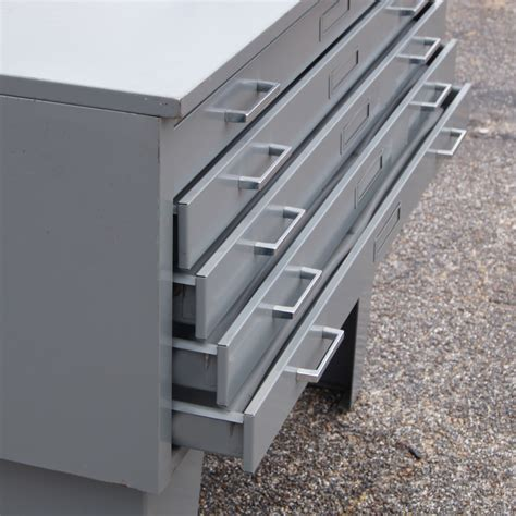vintage metal mayline 5 drawer lateral flat filing
