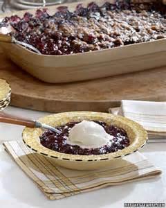 blueberry crisp recipe martha stewart