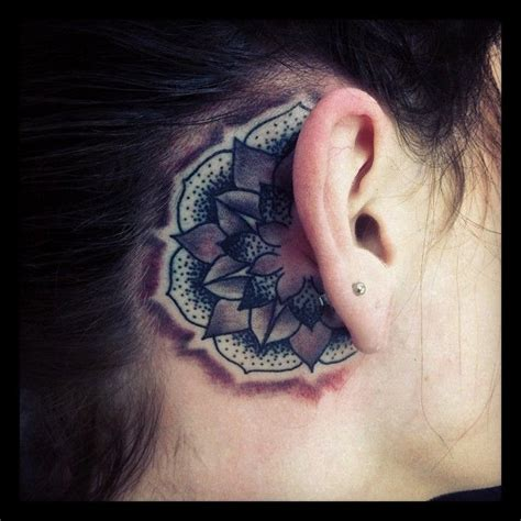 tattoos behind your ear don t forget to wash your ears rat a tat tat