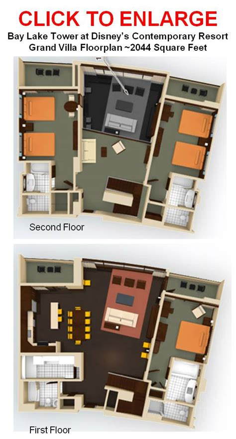 bay lake tower 2 bedroom floor plan disney world bucket list yourfirstvisit net