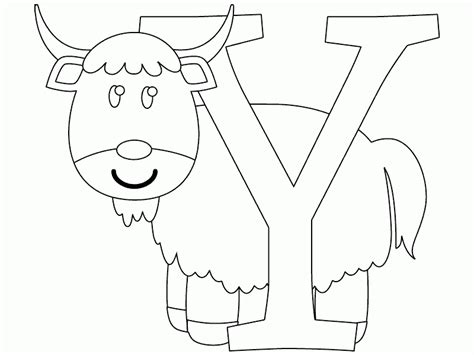coloring pages yak y is for yak coloring page coloring