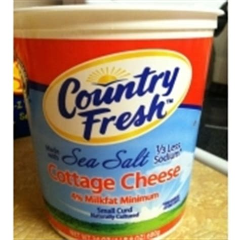country fresh sea salt small curd cottage cheese calories