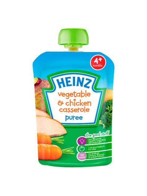 vegetables 4 months baby heinz 4 months vegetable chicken casserole puree 100g