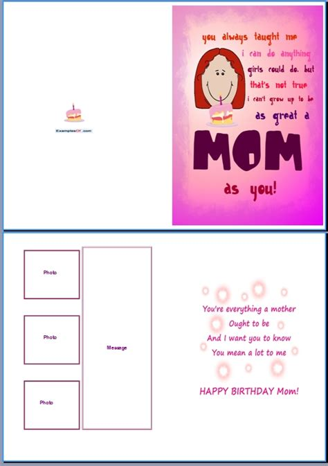 mom birthday card template www imgkid com the image