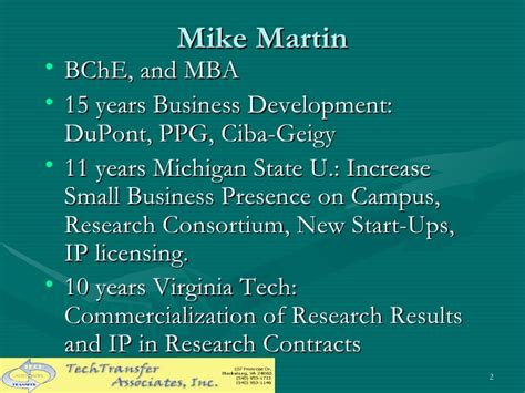 Mba Technology Commercialization by Martin Tto Best Practices Ver3