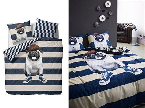 pug design quilt cover bedroom trend 2013 crazy for animals bed linen duvet
