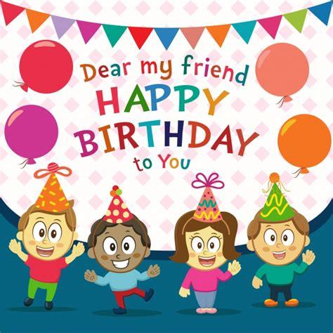 imagenes de happy birthday para descargar gratis fondo de cumplea 241 os feliz con ni 241 os descargar vectores