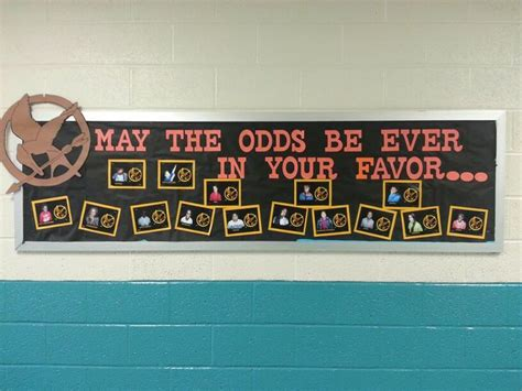 good hunger games themes hunger games bulletin board classroom pinterest the