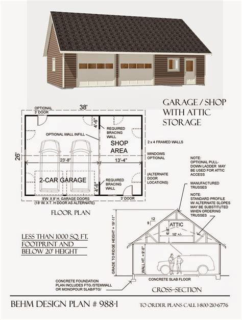 garage and shop plans garage plans blog behm design garage plan exles garage plan 988 1 large 2 car with shop