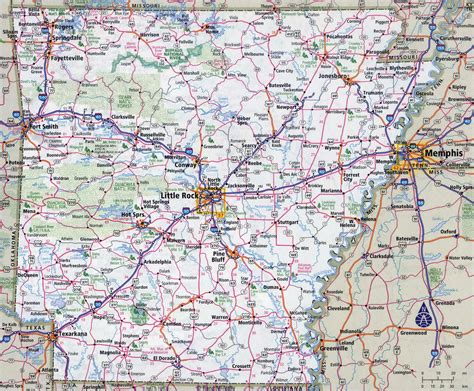 map usa arkansas large detailed roads and highways map of arkansas state