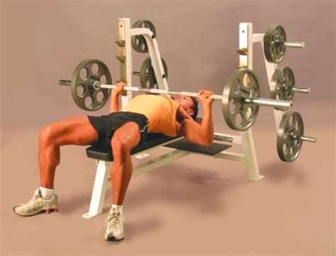 machine flat bench press week one to three exercises gym body gain pull over
