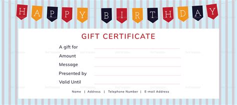 illustrator gift certificate template happy birthday gift certificate design template in psd