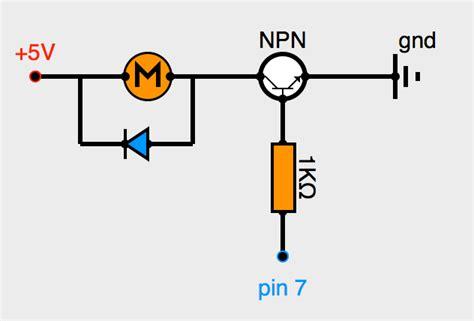diode de roue libre 1n4007 le moteur 224 courant continu partie 1 transistors et sorties pwm programmez vos premiers