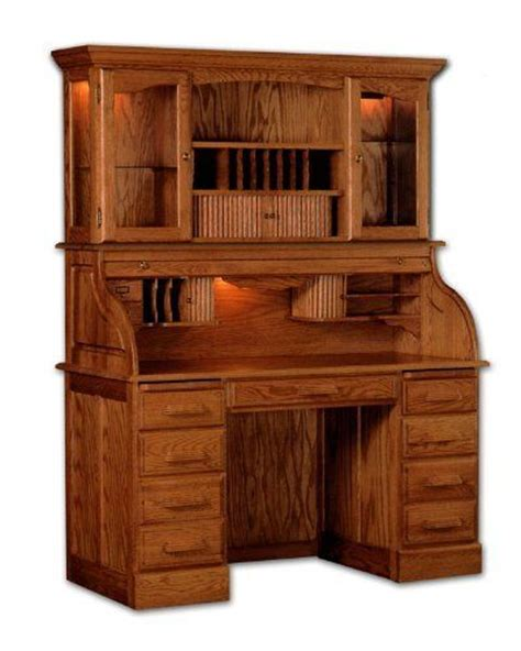 roll top desk with hutch solid wood roll top desk with hutch by haugen furniture by
