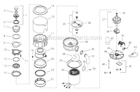 insinkerator parts diagram insinkerator lc50 11 parts list and diagram
