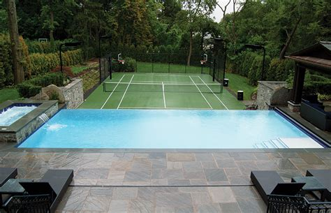 tennis court in backyard pool builder insight how a pool design is born and built