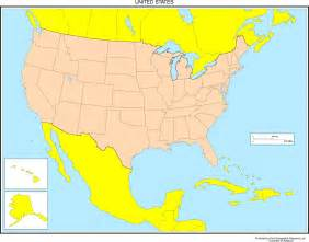 united states map with canada and mexico united states blank map