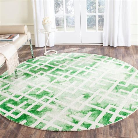 can you dye an area rug safavieh dip dye green ivory 7 ft x 7 ft area rug ddy677q 7r the home depot