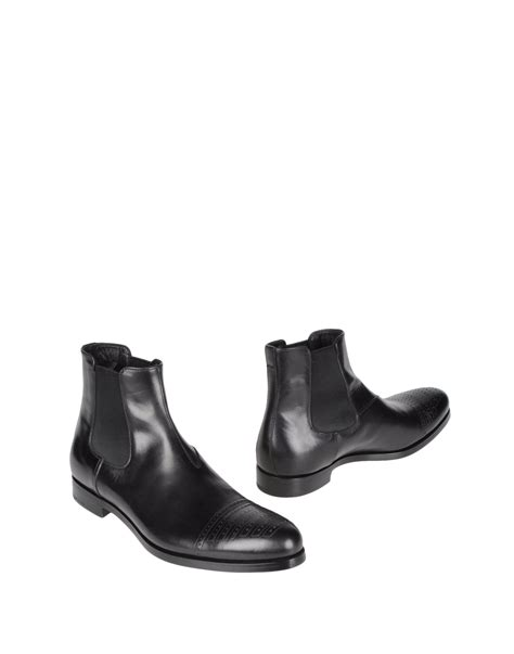 prada mens ankle boots prada ankle boots in black for lyst
